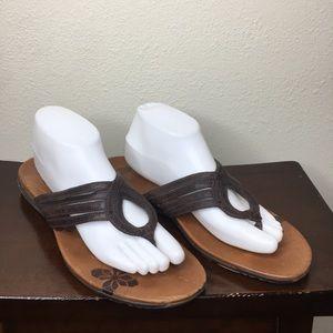 Merrell Lidia Brown Leather Sandal 11